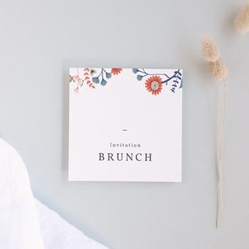 Carte invitation Brunch
