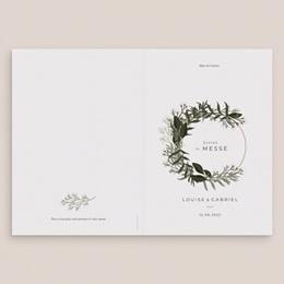 Livret de messe mariage Harmonie Végétale, Couverture Livret gratuit