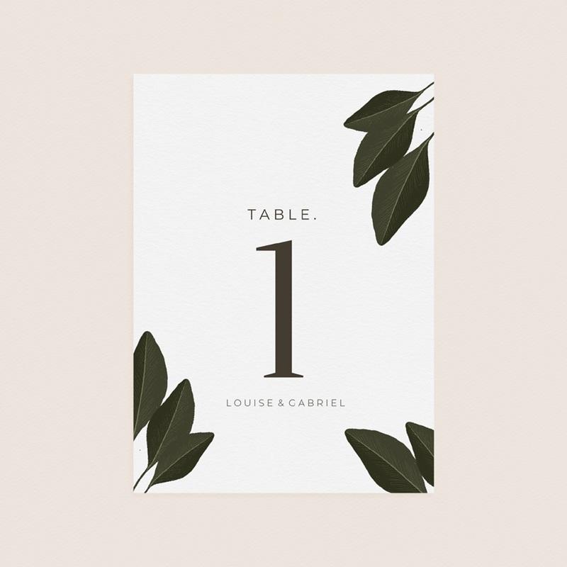 Marque table mariage Harmonie Végétale, lot de 3 pas cher
