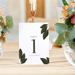 Marque table mariage Harmonie Végétale, lot de 3