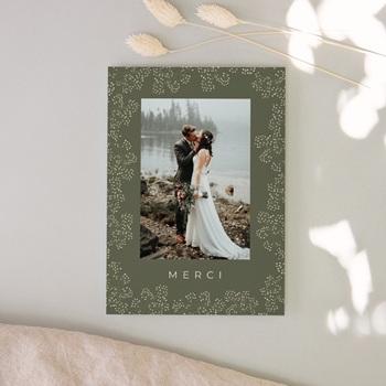 Carte de remerciement mariage printemps