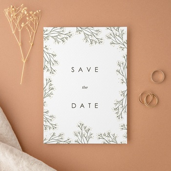 Save-the-date mariage romantique