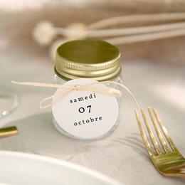 Etiquettes cadeaux mariage Brins minimalistes, noir & blanc, Cadeau