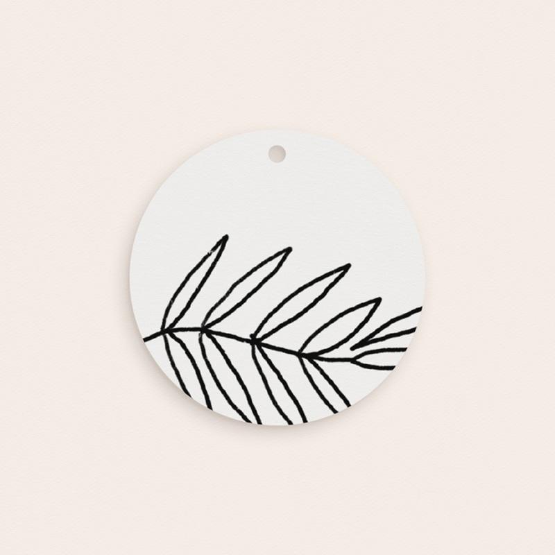 Etiquettes cadeaux mariage Brins minimalistes, noir & blanc, Cadeau pas cher