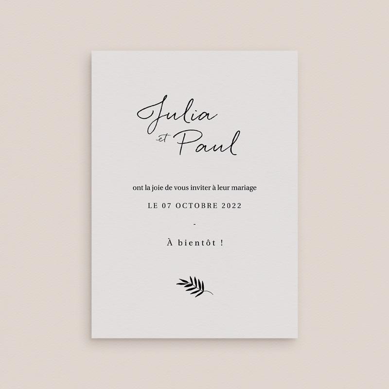 Save-the-date mariage Brins minimalistes, noir & blanc, 10 x 14 pas cher