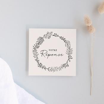 Carton réponse mariage champêtre