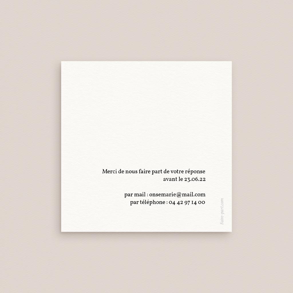Carton réponse mariage Couronne végétale monochrome, Rsvp pas cher
