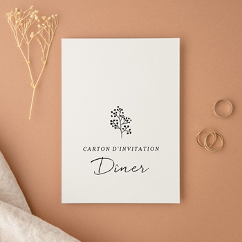 Carte d'invitation mariage