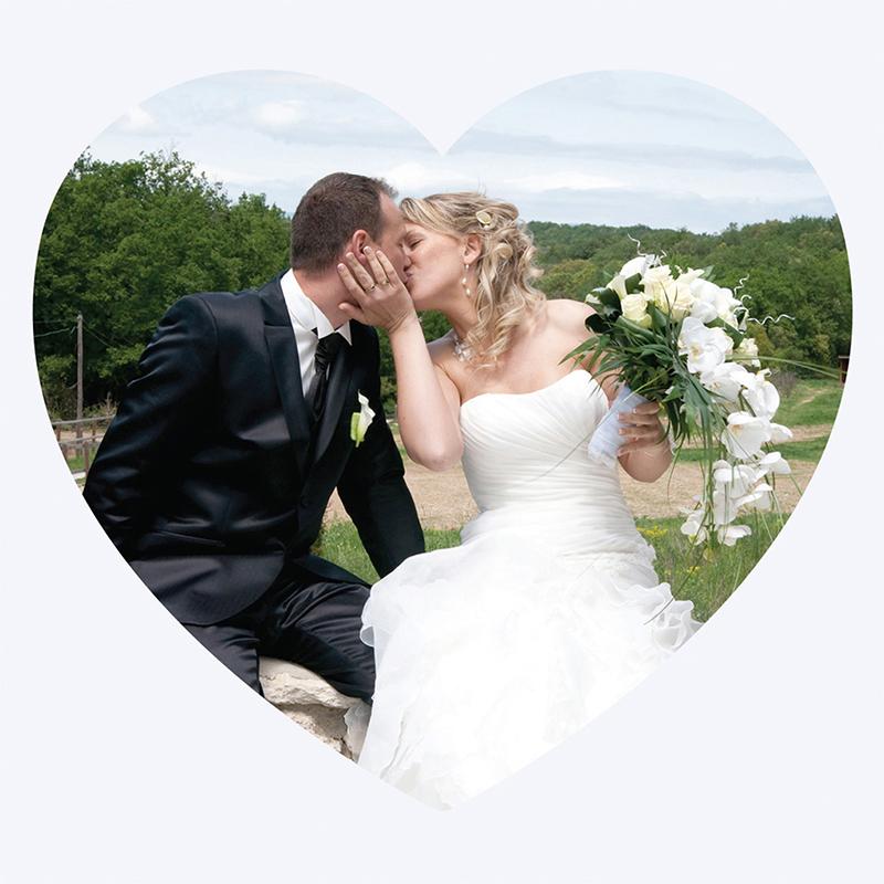 Carte de remerciement mariage Pétales rose pas cher