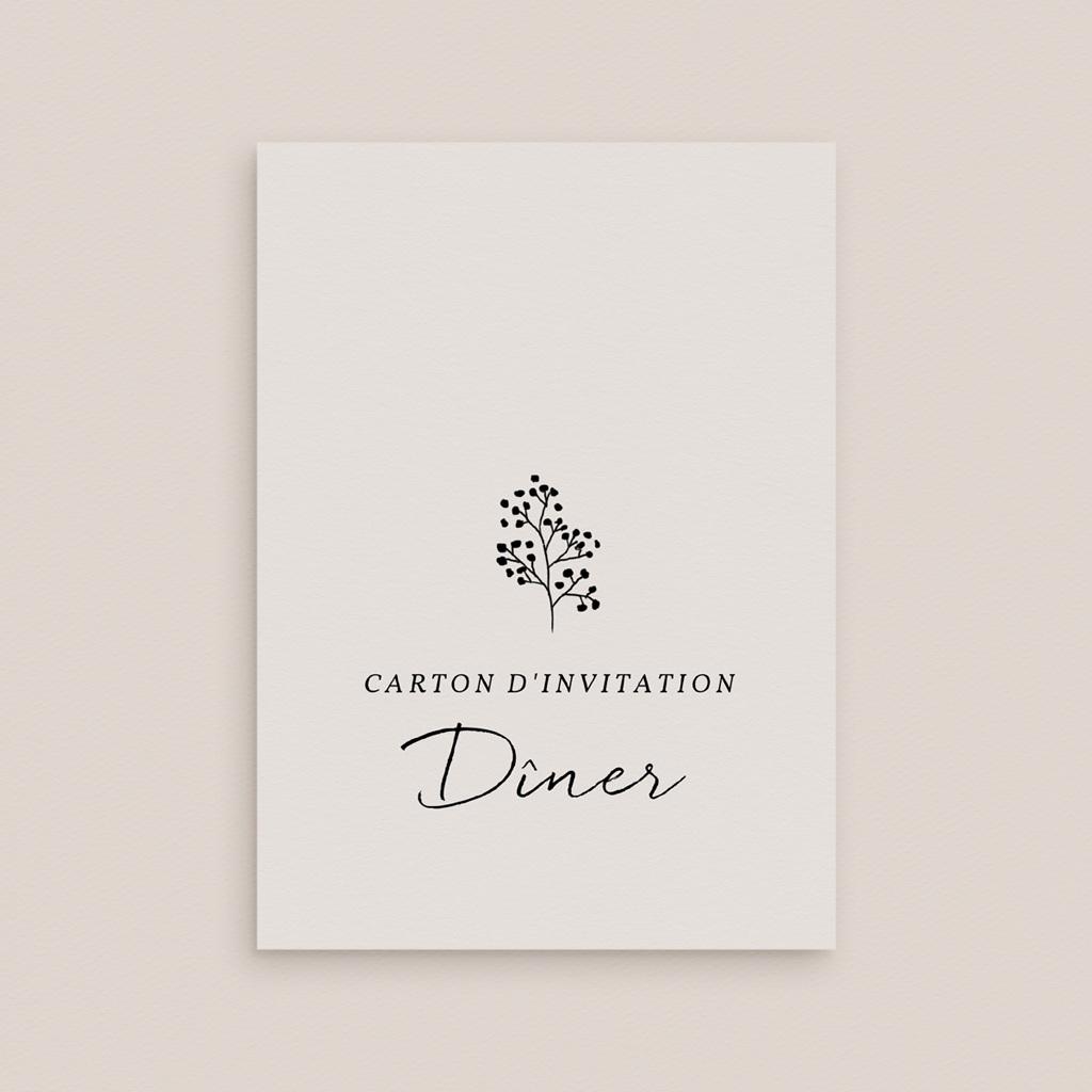 Carte d'invitation mariage Couronne végétale monochrome, Réception gratuit