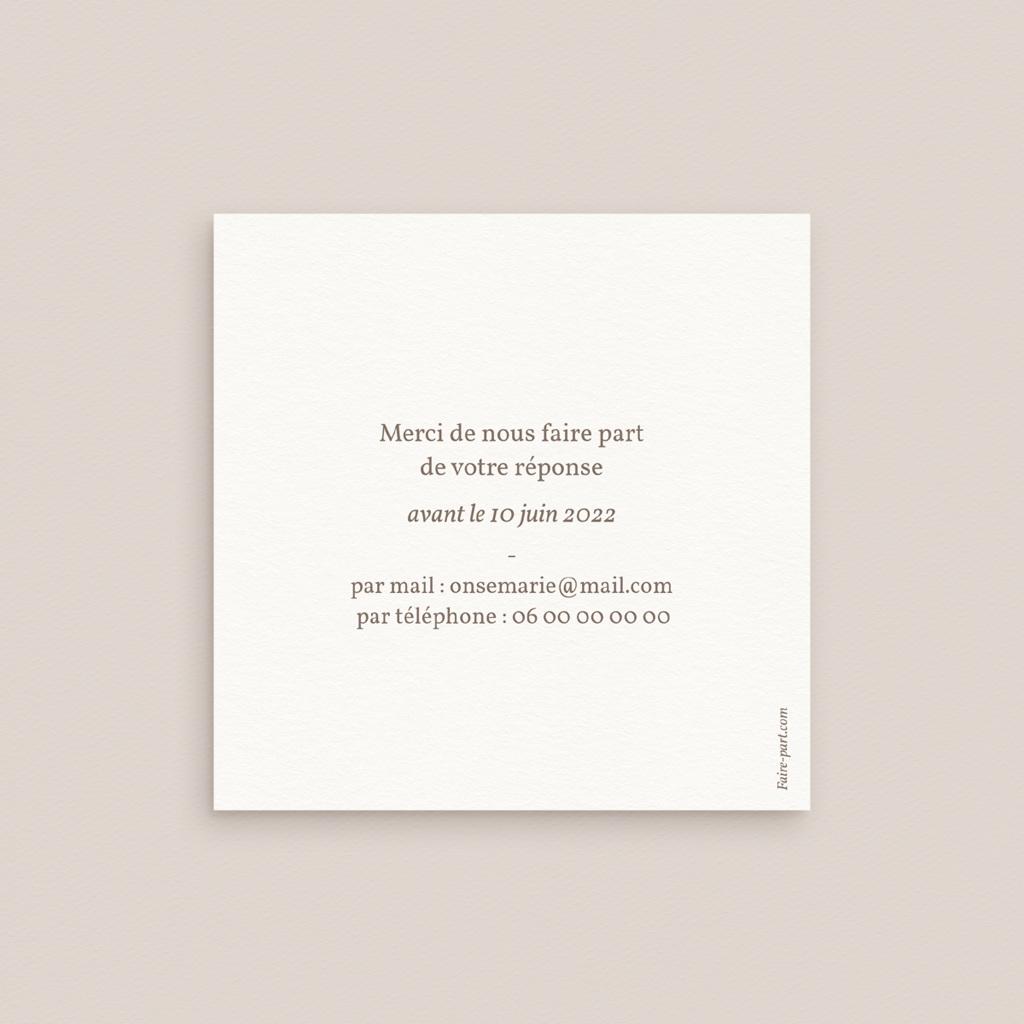 Carton réponse mariage Coquillages épurés, Rsvp pas cher