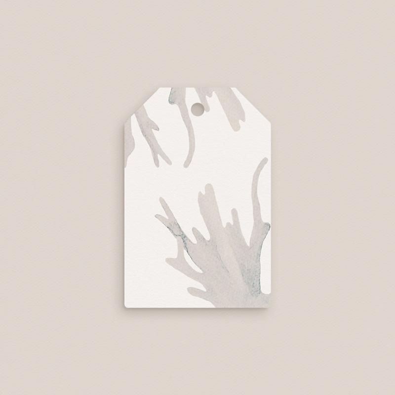 Etiquettes cadeaux mariage Coquillages épurés, 6 x 4 pas cher