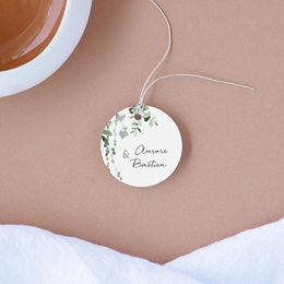 Etiquettes cadeaux mariage Nature Végétale, Cadeau souvenir