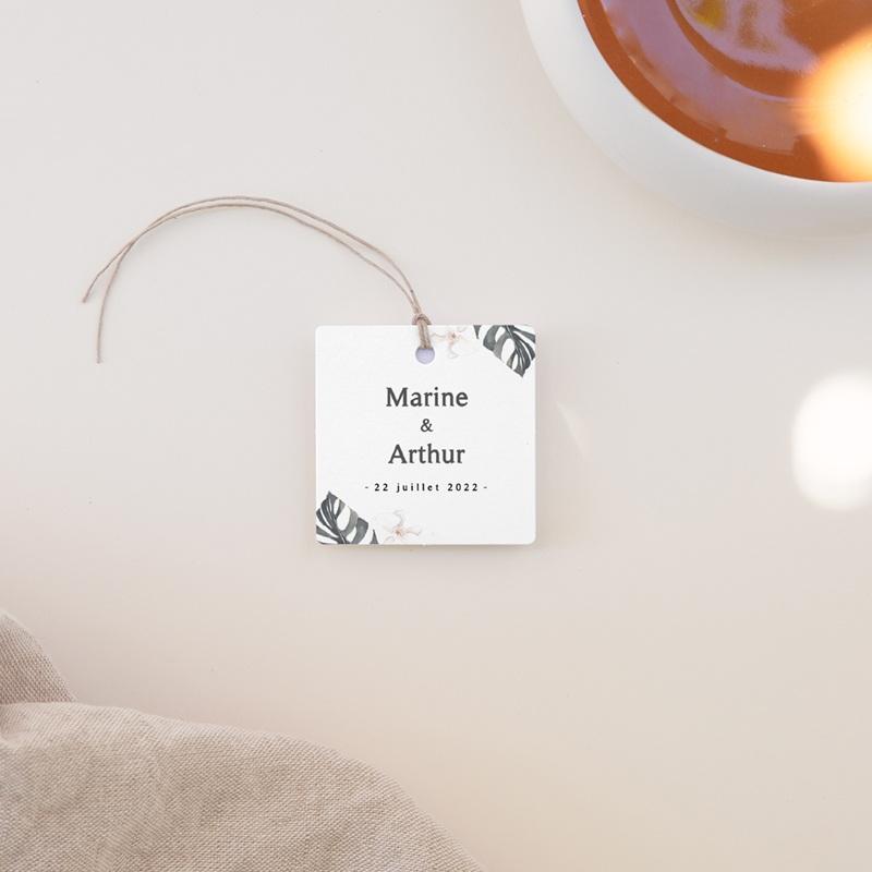 Etiquettes cadeaux mariage Bohème Fleuri, Souvenir