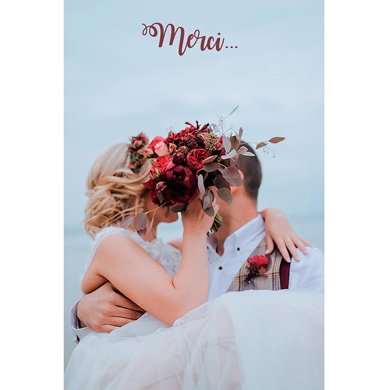 Carte de remerciement mariage Boho pas cher
