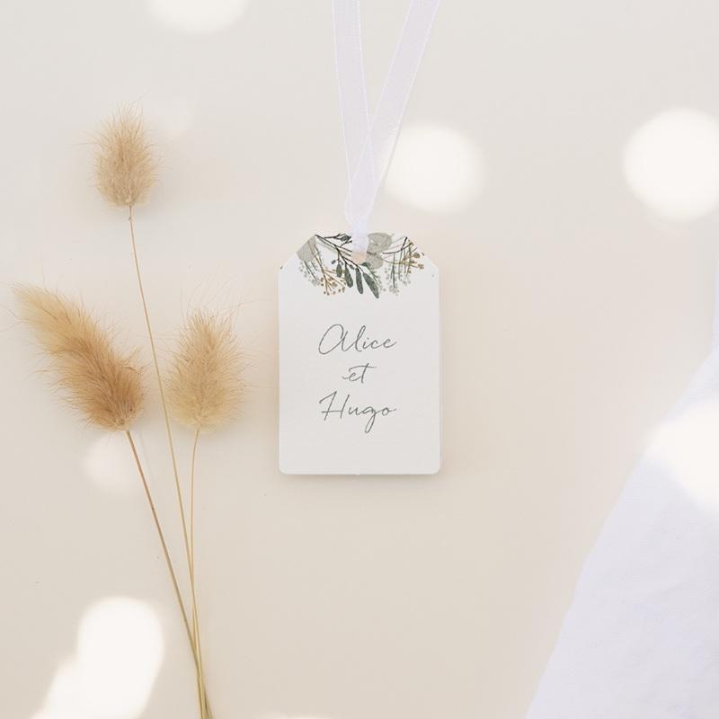 Etiquettes cadeaux mariage Monnaie du Pape & Gypsophile, Cadeau