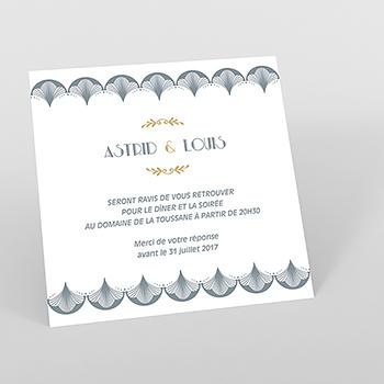 Carte d'invitation mariage Mistinguett