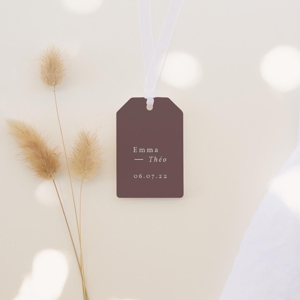 Etiquettes cadeaux mariage Silhouette de Lys, Cadeau