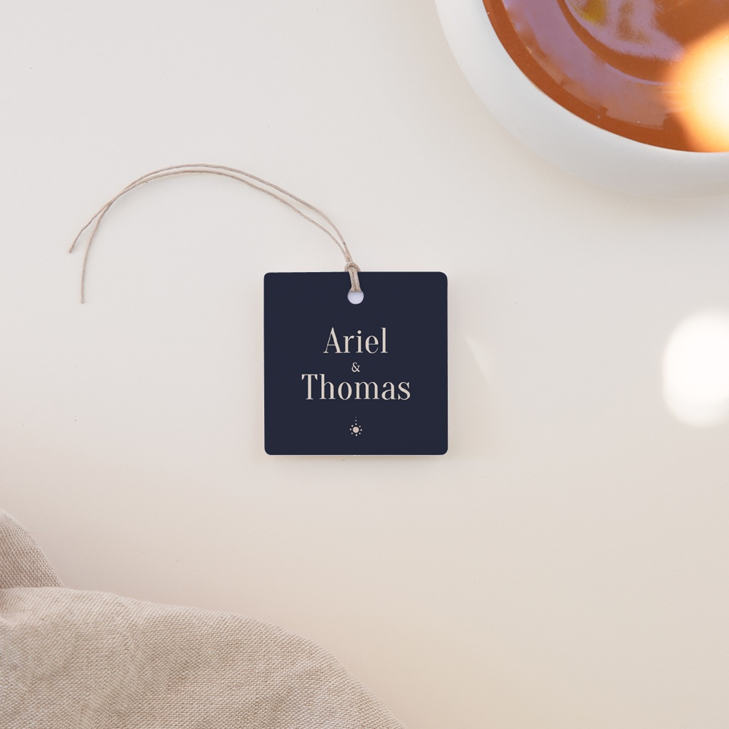 Etiquettes cadeaux mariage Arche de Minuit invités