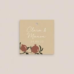 Etiquettes cadeaux mariage Grenades Terracotta, Souvenir gratuit