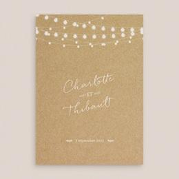 Faire-part de mariage Perfect Day Kraft Grand Rectangle Simple gratuit