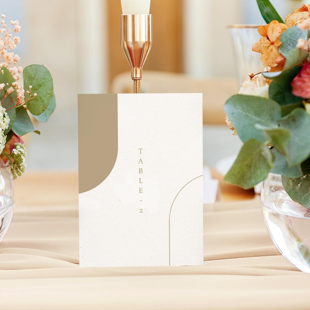 Marque table mariage Arche boho, végétal, Lot de 3 repères gratuit