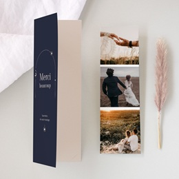 Carte de remerciement mariage Arche de Minuit, 2 en 1