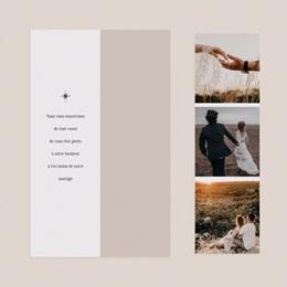 Carte de remerciement mariage Arche de Minuit, 2 en 1 pas cher