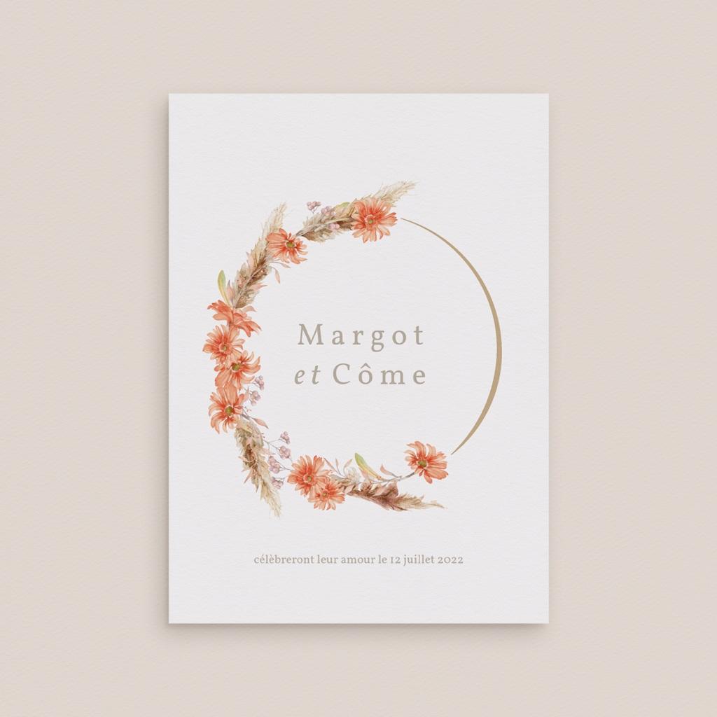 Faire-part de mariage Harmonie Florale & dorure gratuit