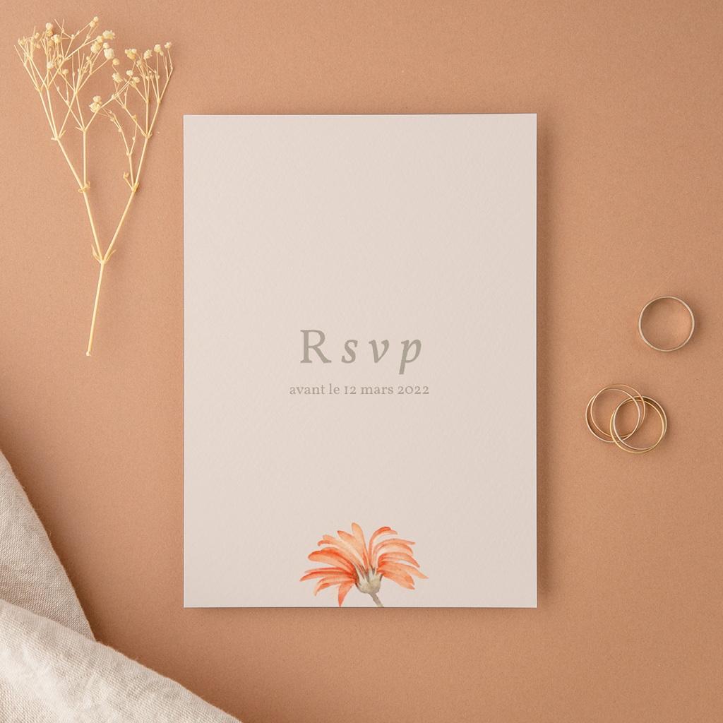 Carton réponse mariage Harmonie Florale, Rsvp
