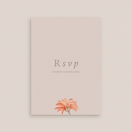 Carton réponse mariage Harmonie Florale, Rsvp gratuit