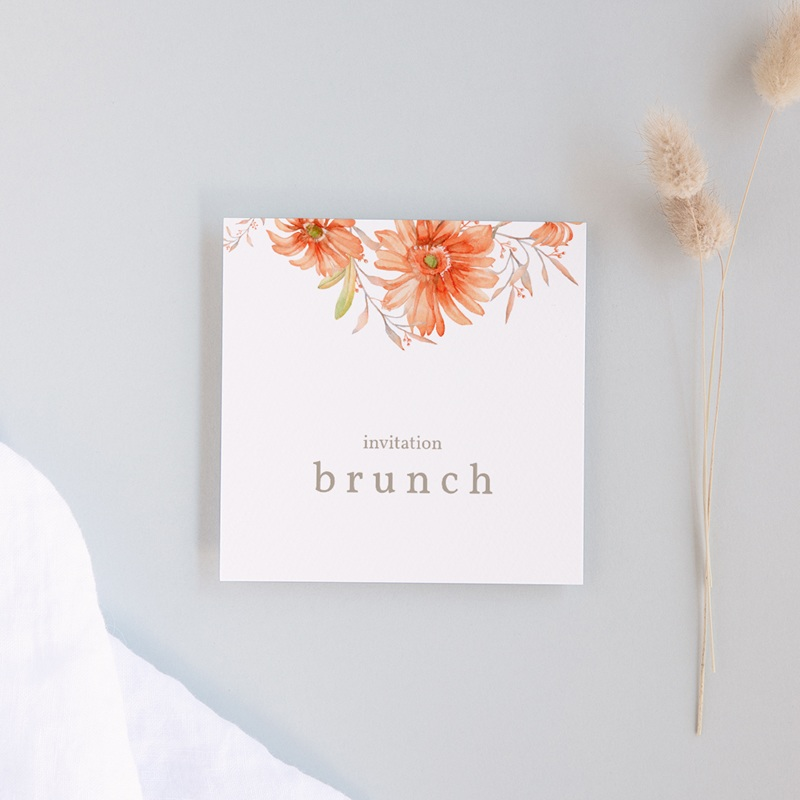 Carte invitation Brunch Harmonie Florale, Brunch