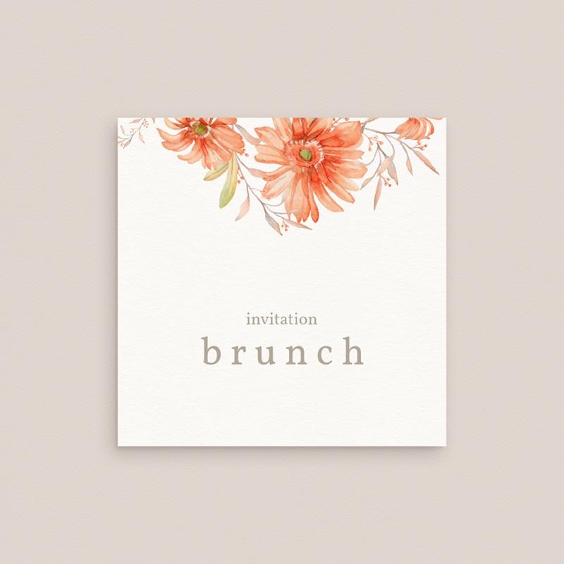 Carte invitation Brunch Harmonie Florale, Brunch gratuit