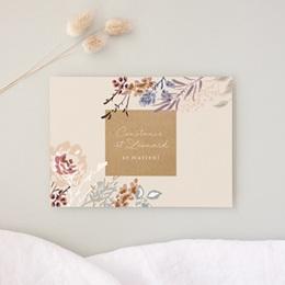 Faire-part de mariage Fleurs Colorées & Kraft