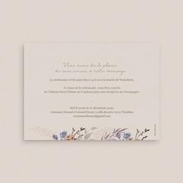 Faire-part de mariage Fleurs Colorées & Kraft pas cher