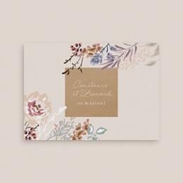 Faire-part de mariage Fleurs Colorées & Kraft gratuit