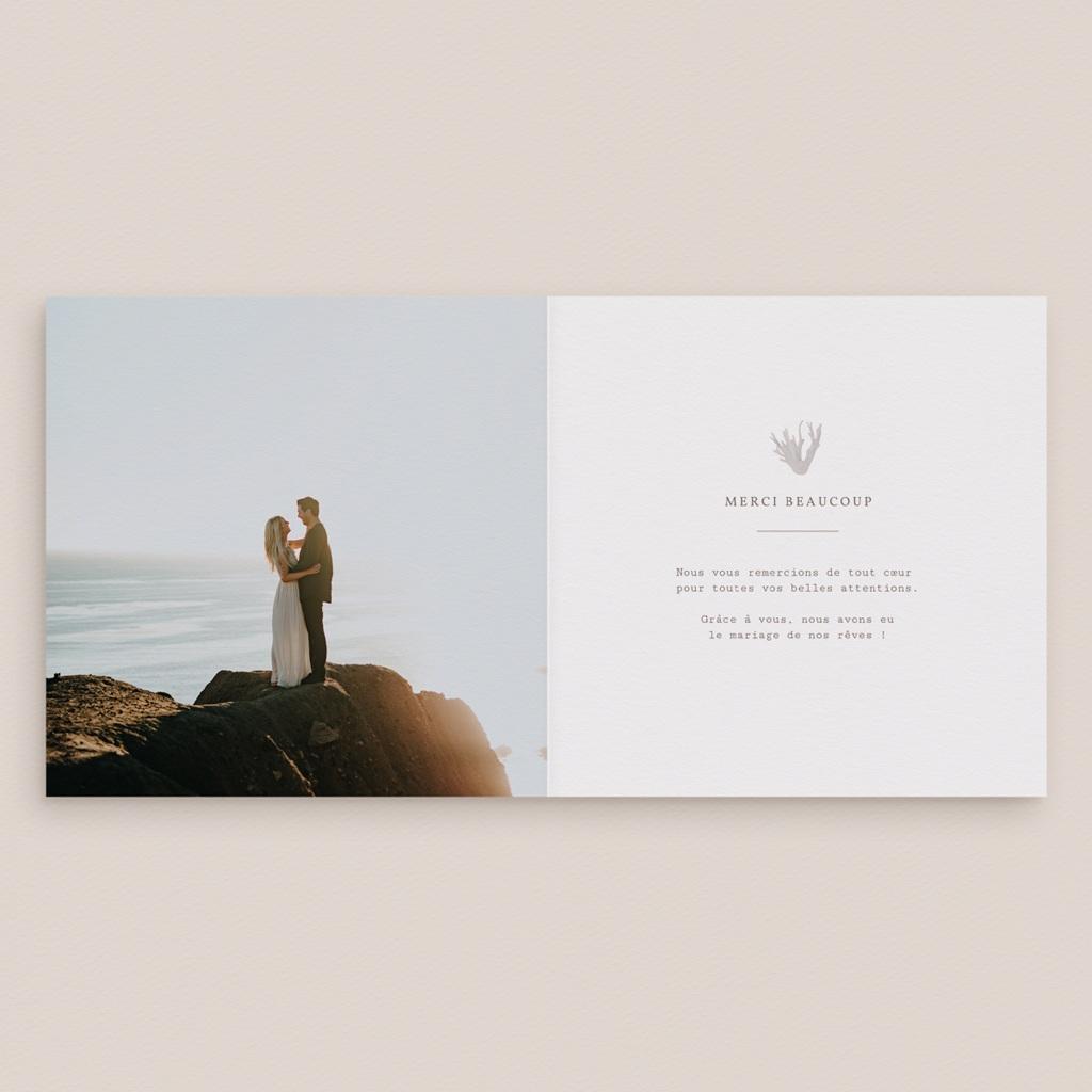 Carte de remerciement mariage Coquillages épurés, photo, 14 x 14 pas cher