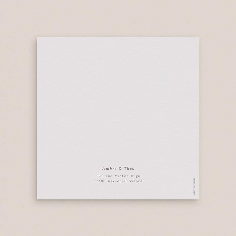 Carte de remerciement mariage Coquillages épurés, photo, 14 x 14 gratuit