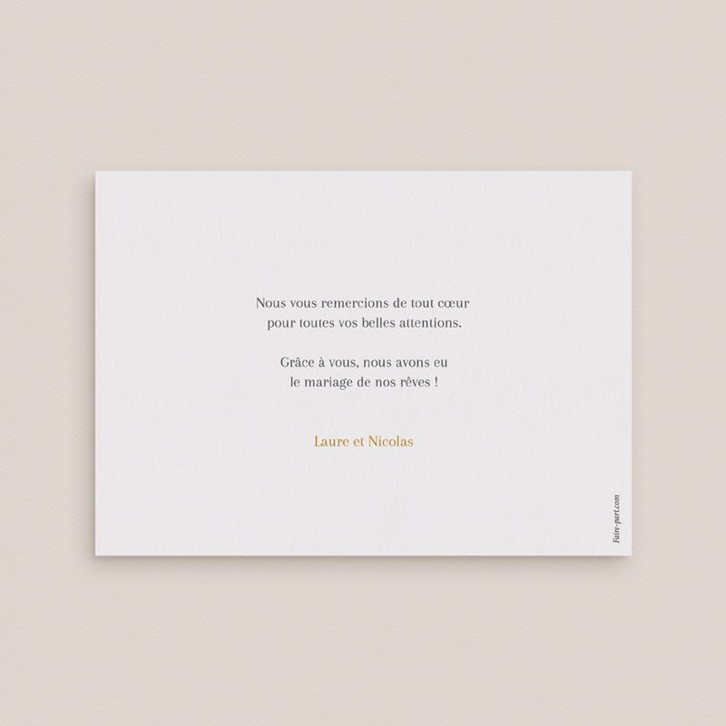 Carte de remerciement mariage Soft Jungle, Photo pas cher