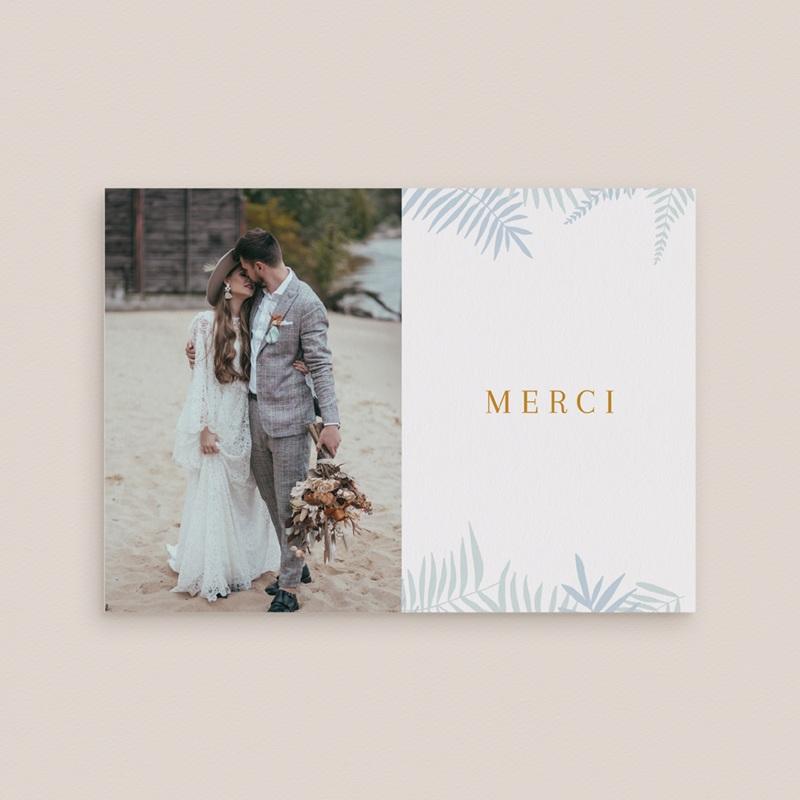 Carte de remerciement mariage Soft Jungle, Photo gratuit