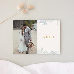 Carte de remerciement mariage Soft Jungle, Photo