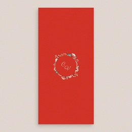 Menu mariage Poppy, 10 x 21 cm pas cher