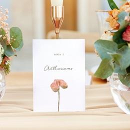 Marque table mariage Lot de 3, Arche de fleurs pourpres
