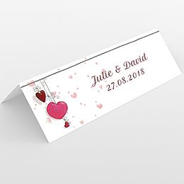 Marque-place mariage Les Coeurs coeur