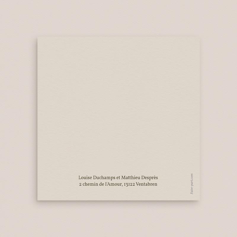 Faire-part de mariage Rameau bohème, 3 volets, 15 x 14,5 cm gratuit