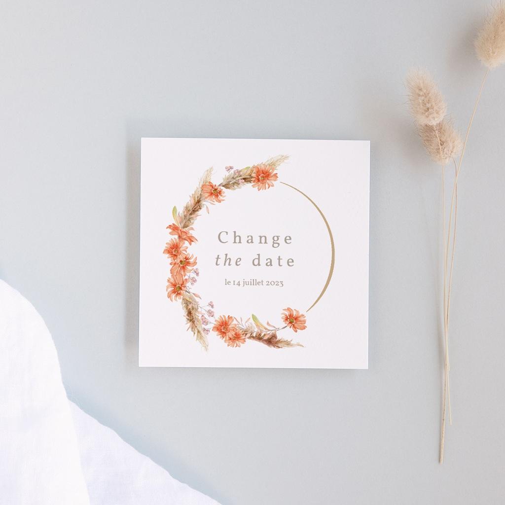 Change the date mariage Harmonie Florale, Nouvelle Date
