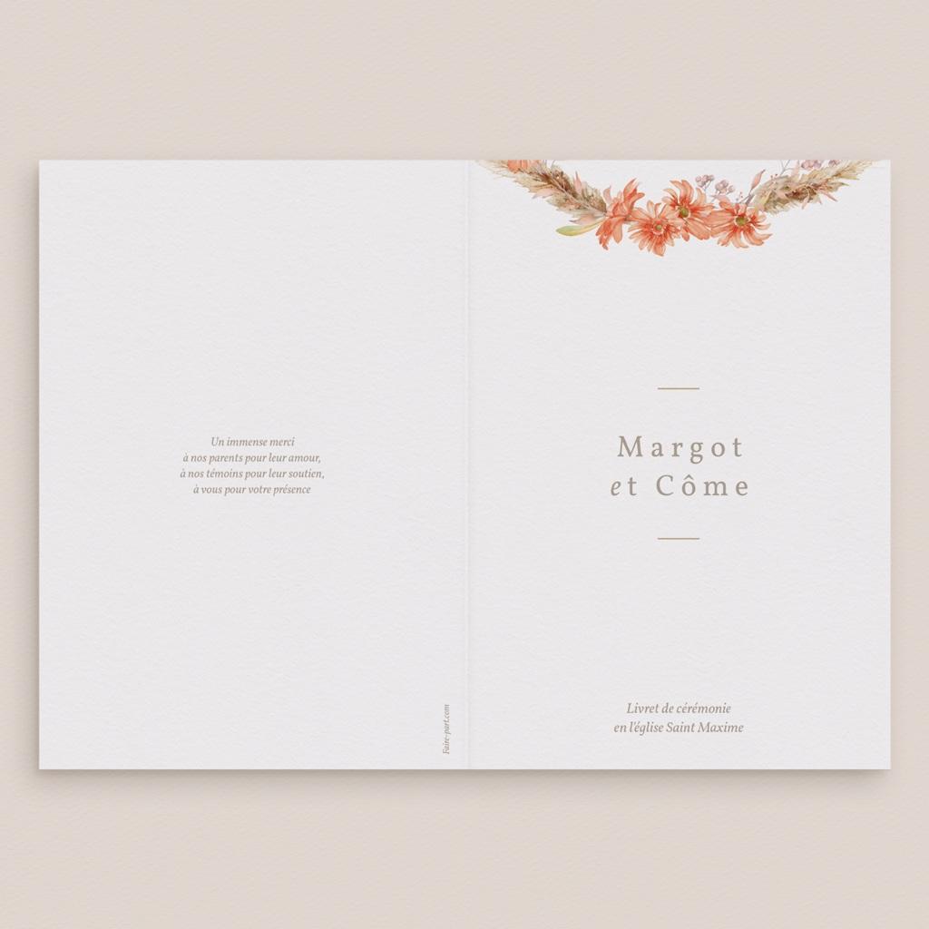 Livret de messe mariage Harmonie Florale, Couverture livret gratuit