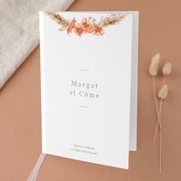 Livret de messe mariage Harmonie Florale, Couverture livret