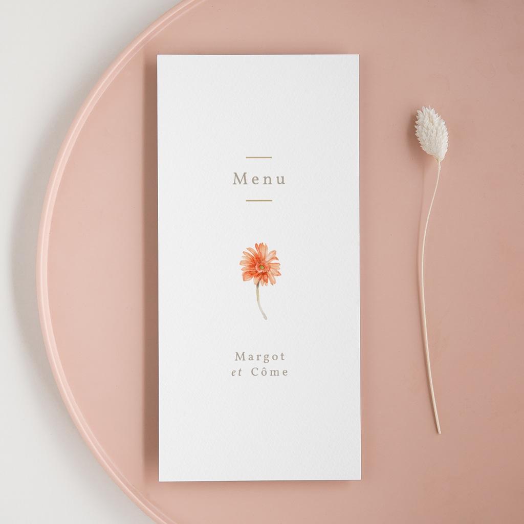 Menu mariage Harmonie Florale, Repas
