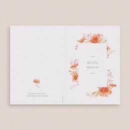Carte de remerciement mariage Harmonie Florale, 2 photos, double volet gratuit